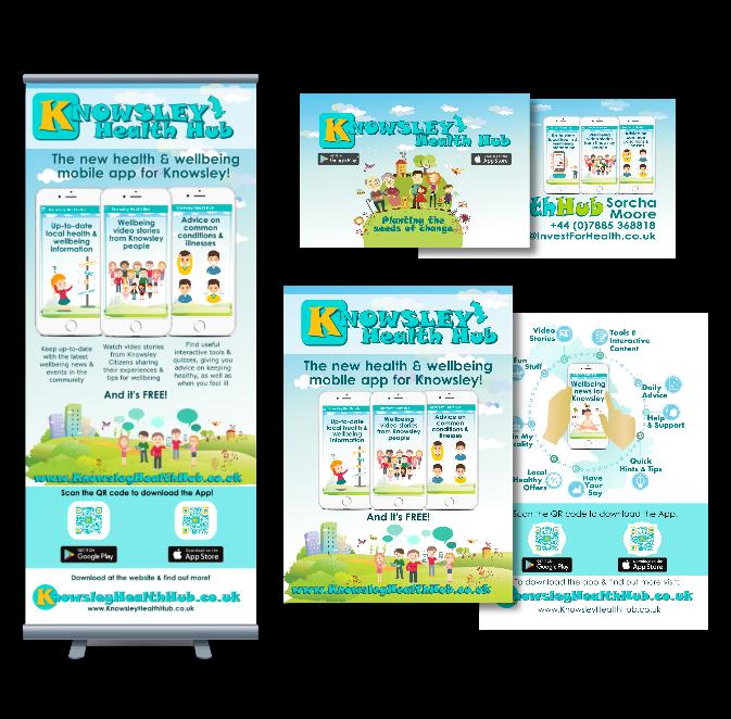 Knowsley Health Hub Marketing Collatoral
