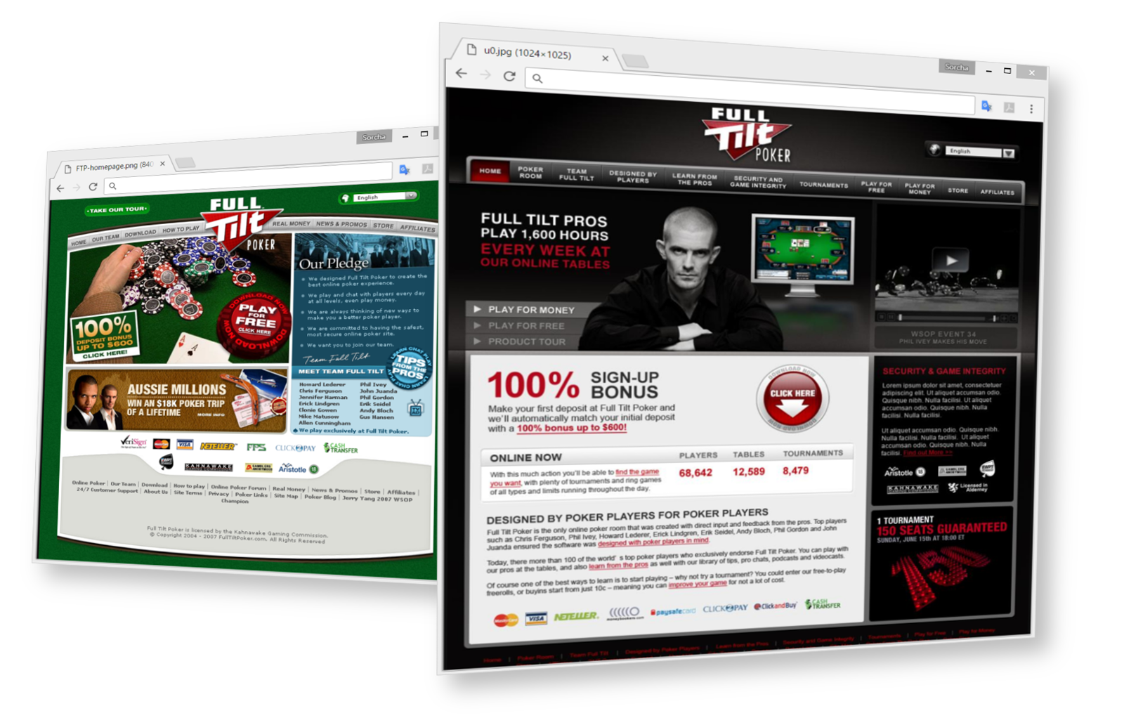 Full Tilt Poker Homepage Redesign
